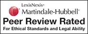 AV Rated attorney by Martindell Hubell